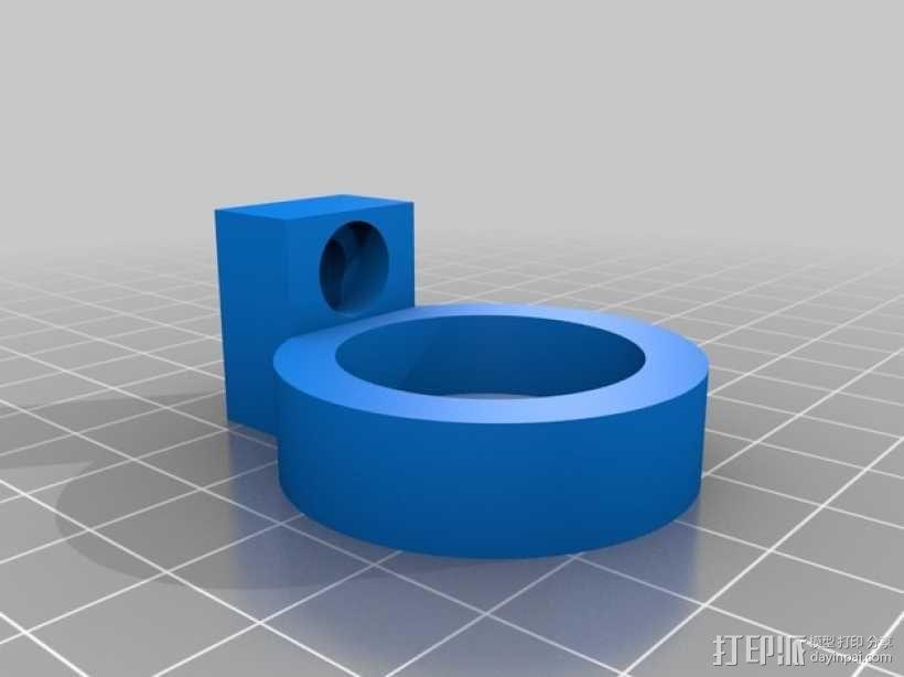 K8200滚珠螺杆支架 3D模型  图6