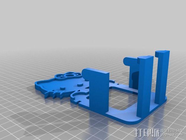 Hello_Kitty手机支架 3D模型  图2
