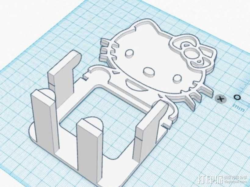 Hello_Kitty手机支架 3D模型  图1