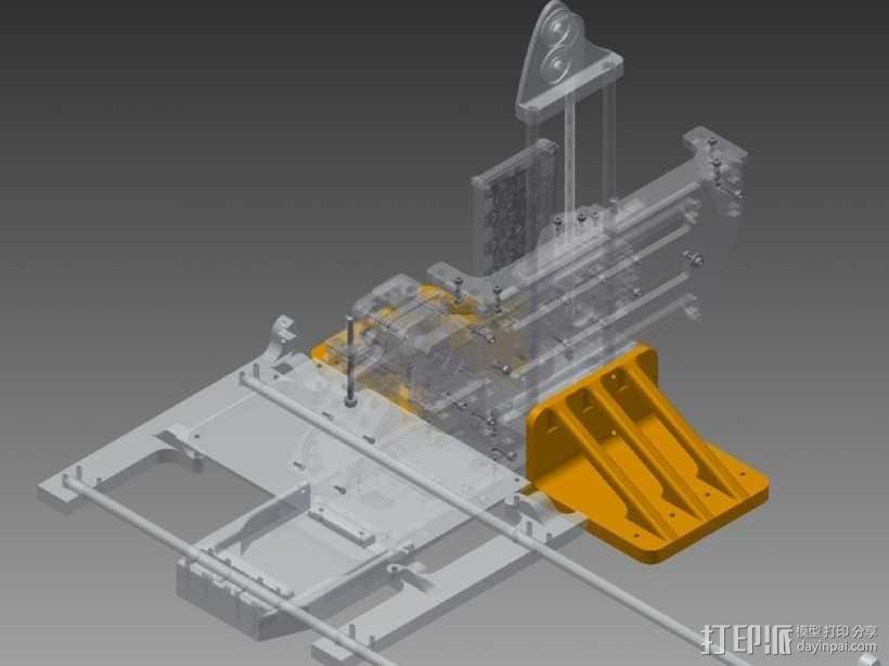 Printrbot Simple打印机底垫 3D模型  图1