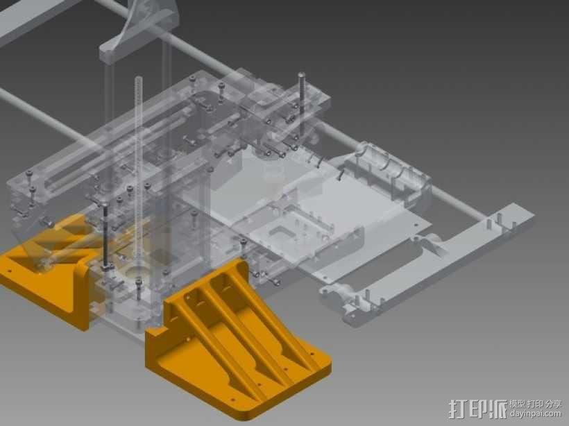 Printrbot Simple打印机底垫 3D模型  图2