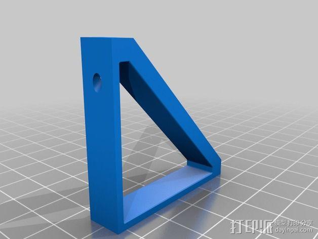 Ramps 电路板支架 LCD显示屏支架 3D模型  图4