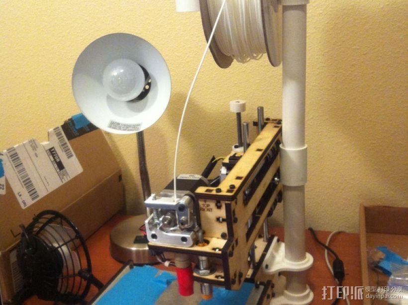 Printrbot Maker 打印机的线轴支架 3D模型  图1