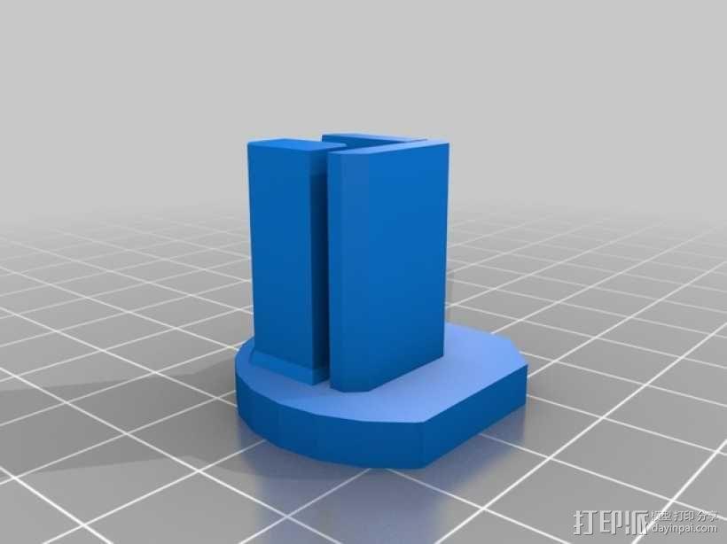 Printrbot Simple metal打印机的底垫 3D模型  图2