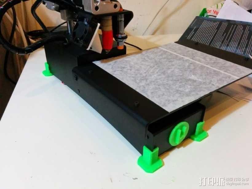 Printrbot Simple metal打印机的底垫 3D模型  图1