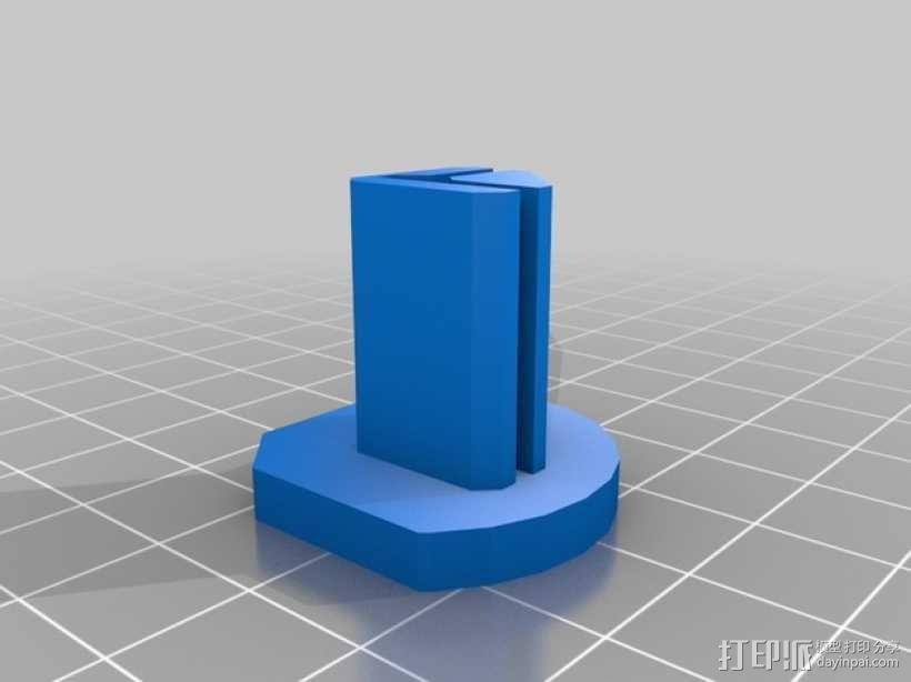 Printrbot Simple metal打印机的底垫 3D模型  图5