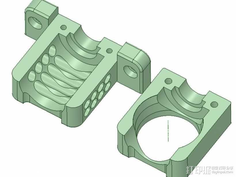 E3D喷头风扇 3D模型  图1