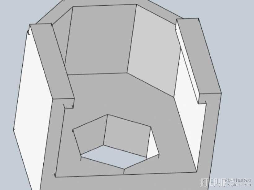 Prusa i3 y轴螺母支架 3D模型  图3