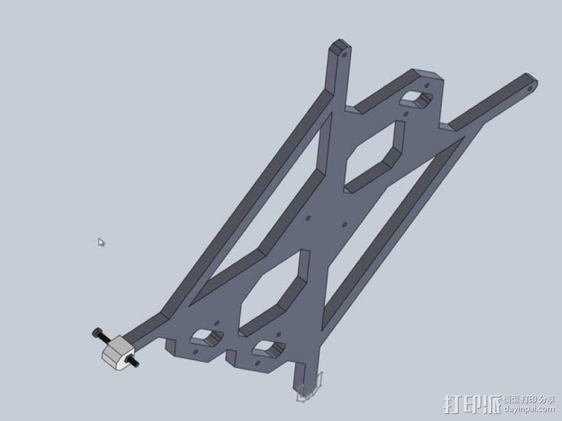 Prusa i3 y轴螺母支架 3D模型  图1