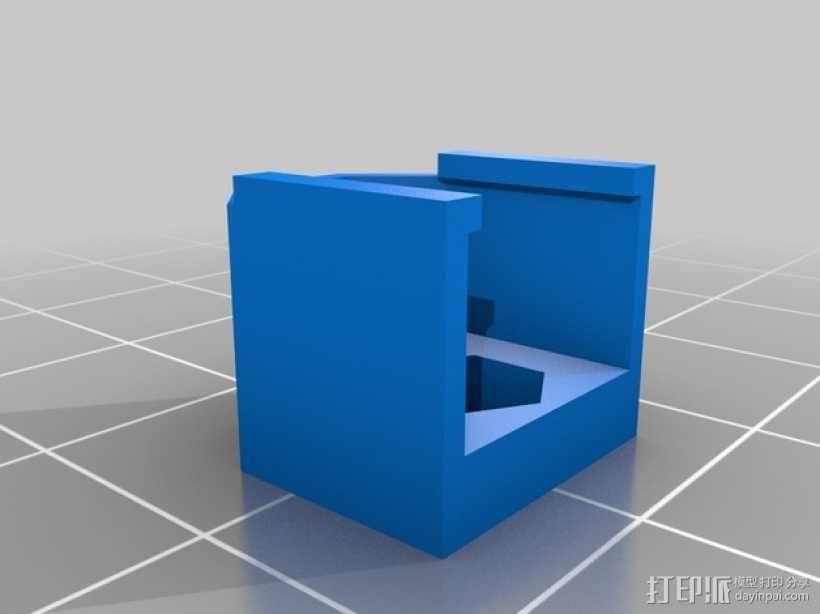 Prusa i3 y轴螺母支架 3D模型  图2