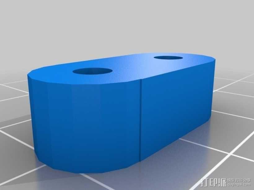 Kossel-mini 打印机的加热床支架和玻璃板支架 3D模型  图3