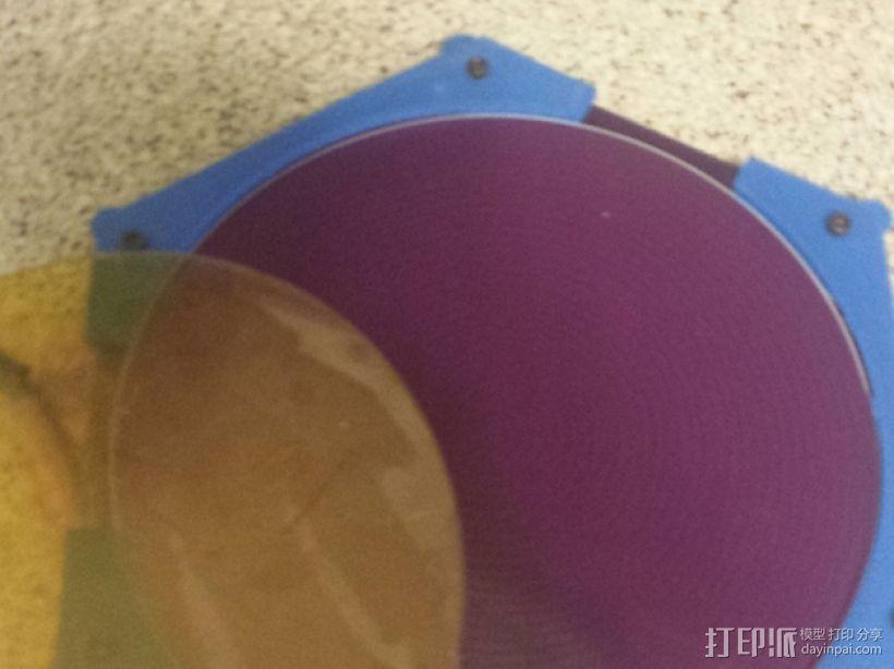 Kossel-mini 打印机的加热床支架和玻璃板支架 3D模型  图7