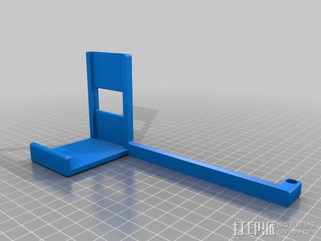 MakerBot Replicator 2 打印机的线轴支架 3D模型  图2