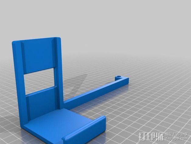 MakerBot Replicator 2 打印机的线轴支架 3D模型  图5
