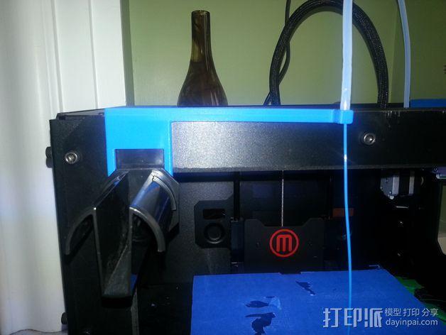 MakerBot Replicator 2 打印机的线轴支架 3D模型  图4