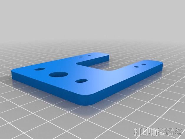 Velleman K8200 / 3Drag打印机的挤出机支架 3D模型  图2