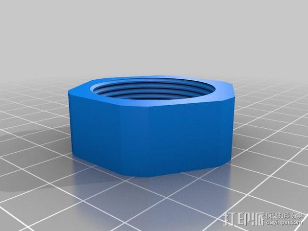 Flashforge 打印机的线轴支架盖帽  3D模型  图2