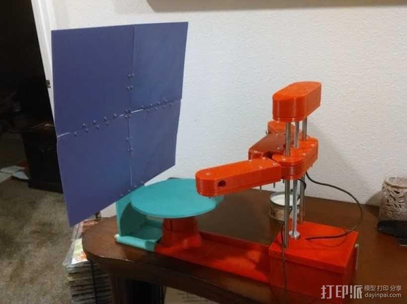 打印机的背景幕 3D模型  图1