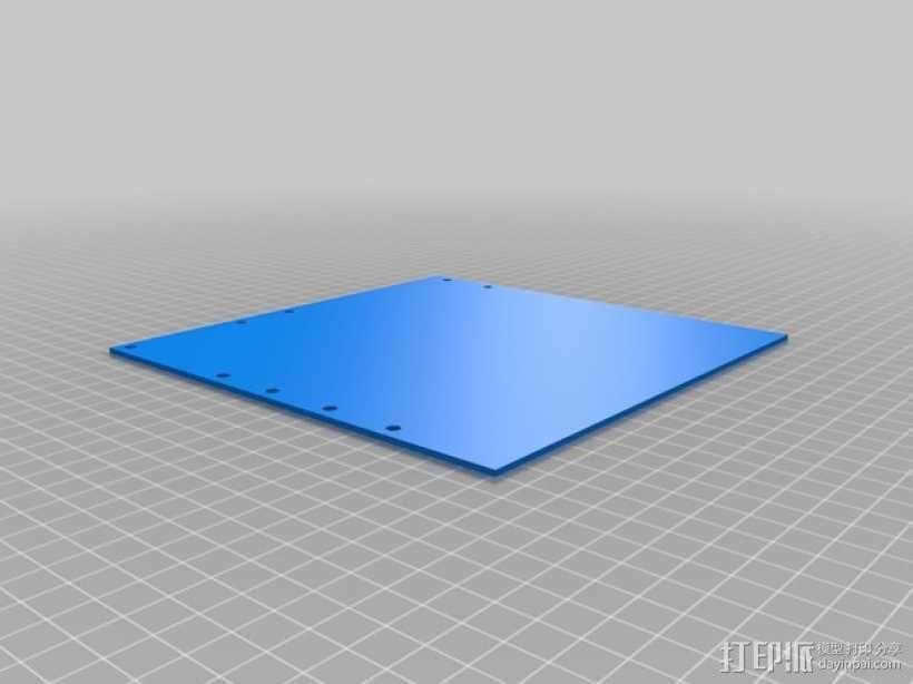 打印机的背景幕 3D模型  图6