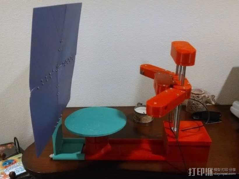 打印机的背景幕 3D模型  图3