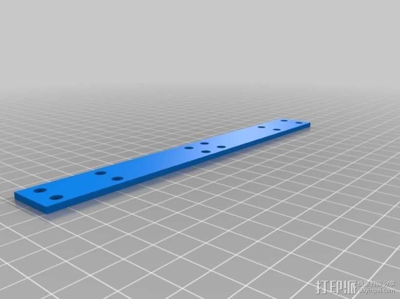 打印机的背景幕 3D模型  图5