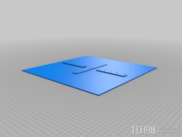打印机的背景幕 3D模型  图8