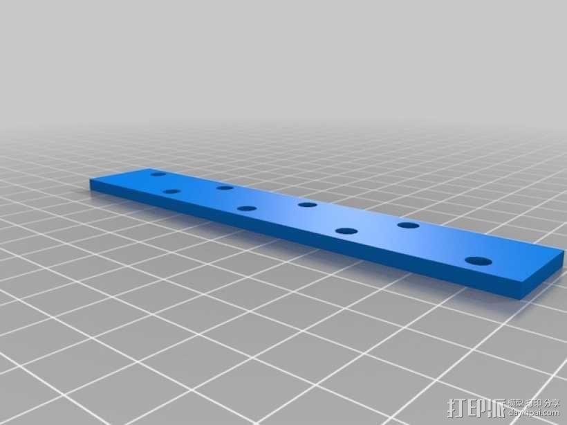 打印机的背景幕 3D模型  图7