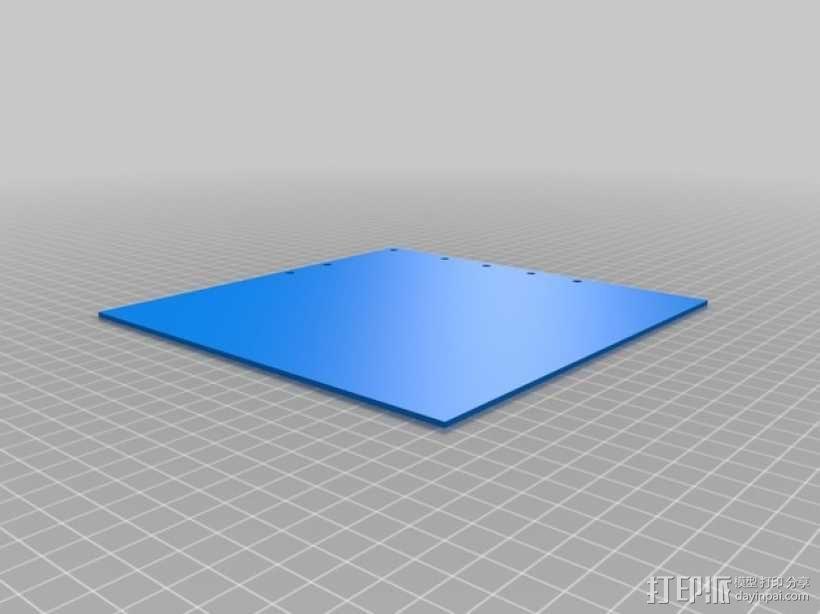 打印机的背景幕 3D模型  图10