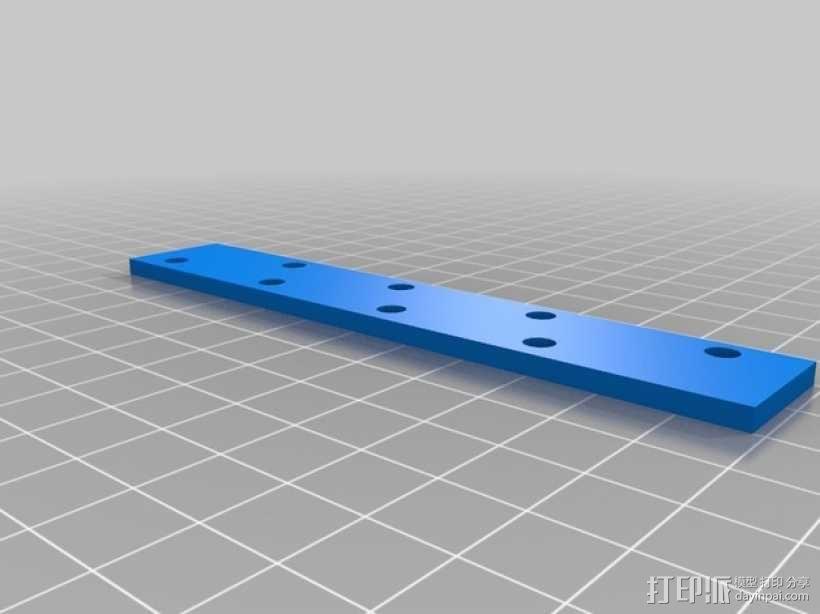 打印机的背景幕 3D模型  图9