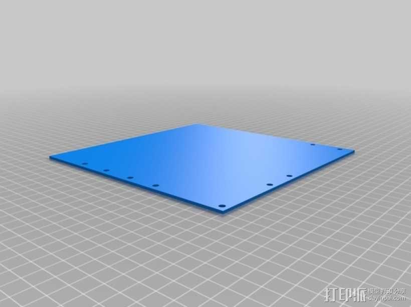 打印机的背景幕 3D模型  图12
