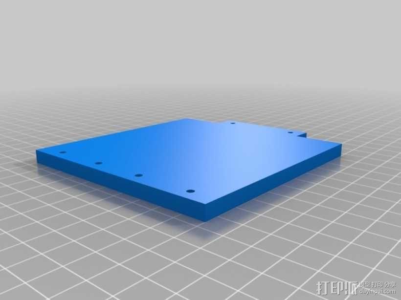 打印机的背景幕 3D模型  图11