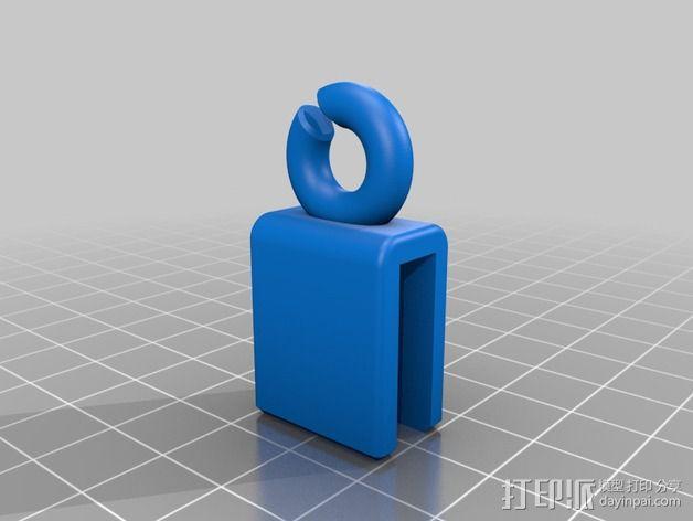 Prusa i3 打印机的线材导线器 3D模型  图1
