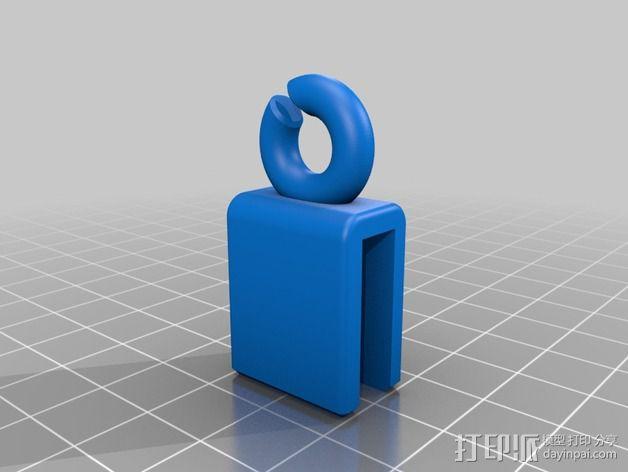Prusa i3 打印机的线材导线器 3D模型  图2