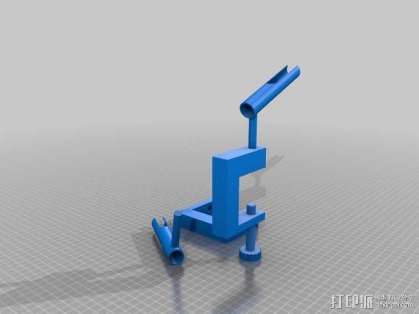 星级高清喷枪支架 3D模型  图1