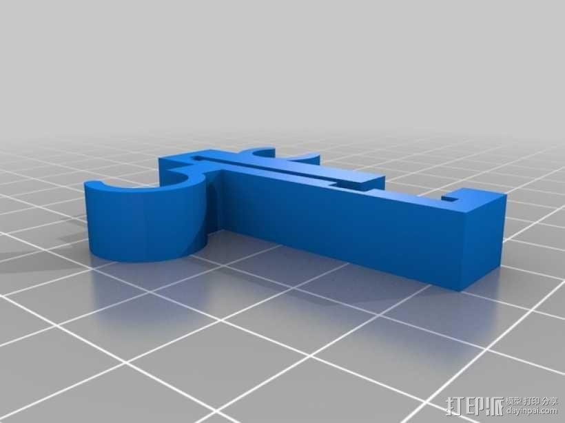 Prusa i3 Y轴的限位开关 3D模型  图1