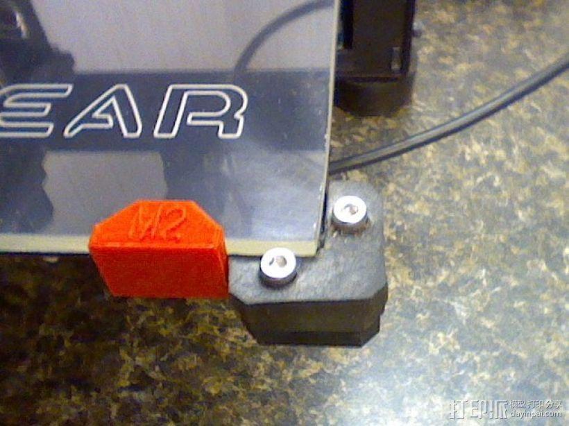 MakerGear M2打印机构建板固定夹 3D模型  图1