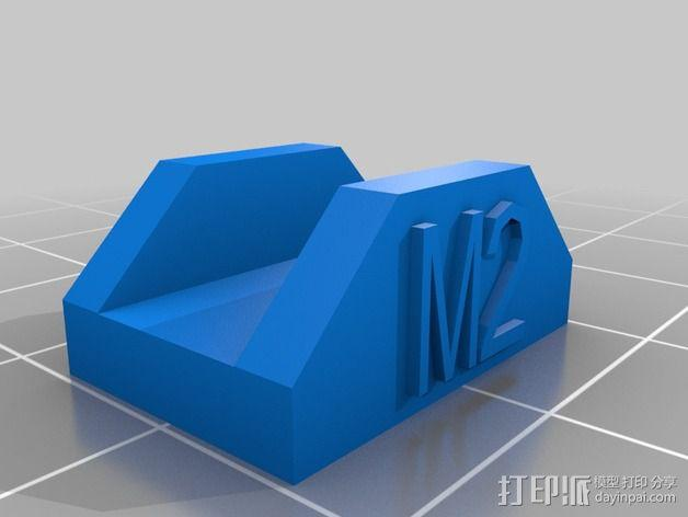 MakerGear M2打印机构建板固定夹 3D模型  图2