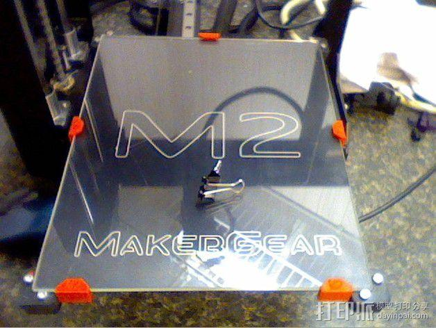MakerGear M2打印机构建板固定夹 3D模型  图3
