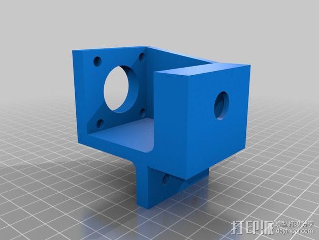 NEMA17马达支架 耦合器 轴承 3D模型  图2