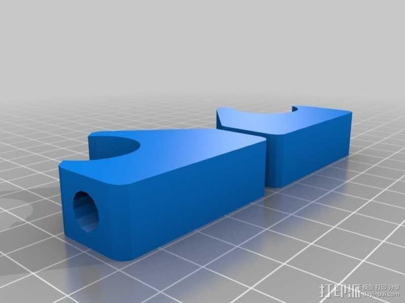 Mendel prusa i2打印机的线轴支架 3D模型  图2