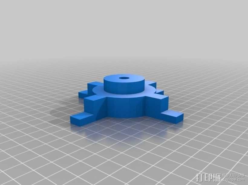 Mendel prusa i2打印机的线轴支架 3D模型  图1