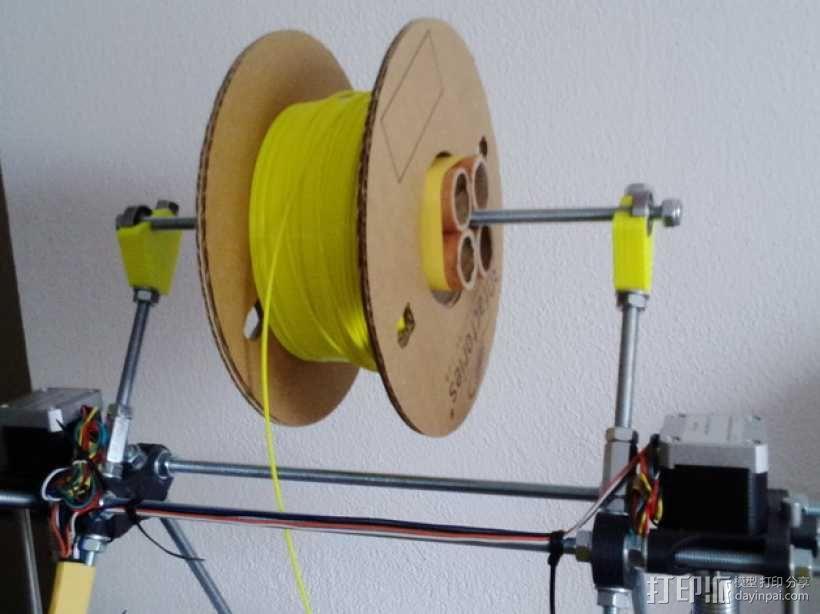Mendel prusa i2打印机的线轴支架 3D模型  图4