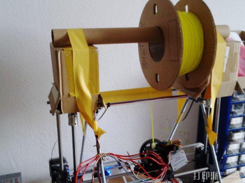 Mendel prusa i2打印机的线轴支架 3D模型  图3