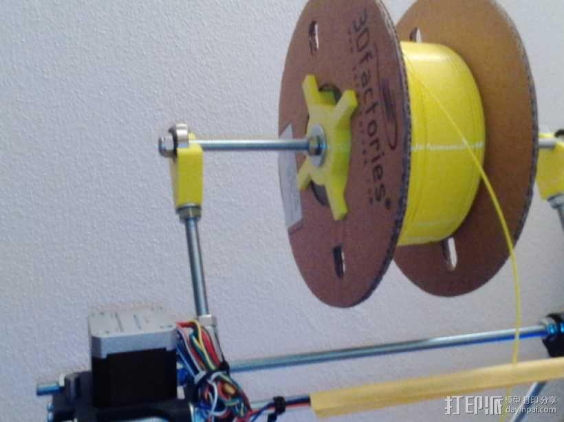 Mendel prusa i2打印机的线轴支架 3D模型  图8