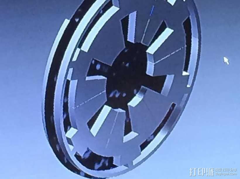 Rebel/Imperial 大奖章 徽章 3D模型  图1