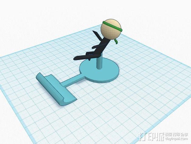 iPad平板电脑支撑架 3D模型  图2