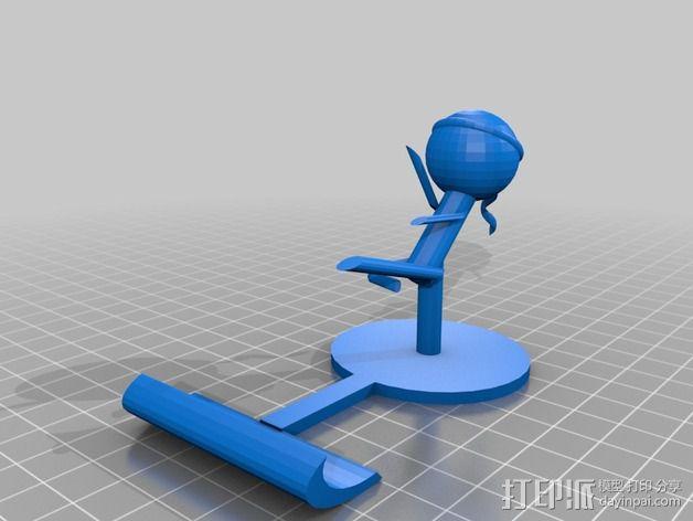 iPad平板电脑支撑架 3D模型  图1