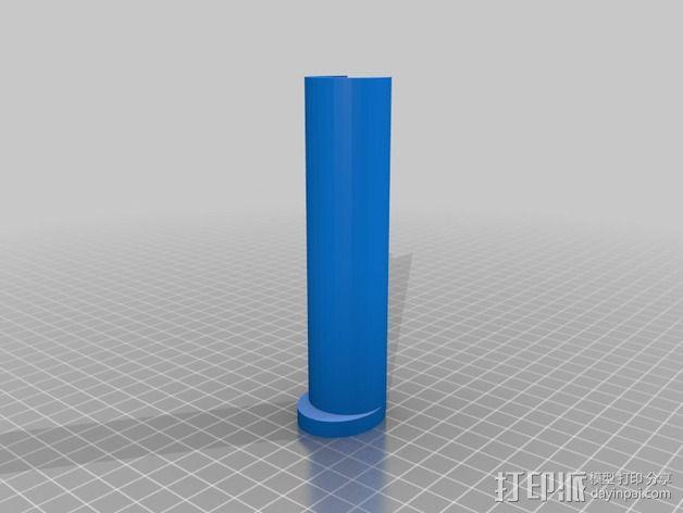 Printrbot Simple Metal 打印机线轴支架的中心轴 3D模型  图1