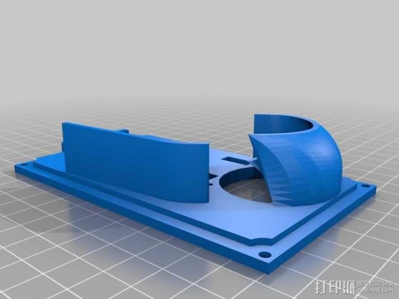 RAMS 1.4/Mega 2560控制器显示屏支架 3D模型  图1