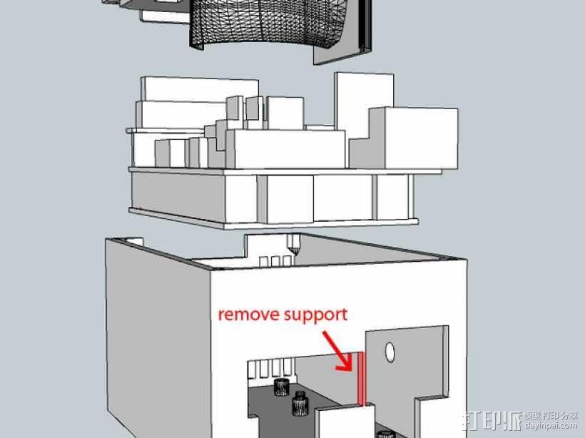 RAMS 1.4/Mega 2560控制器显示屏支架 3D模型  图3